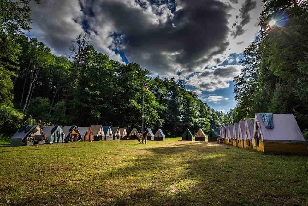 Tiendas de campaña para campamentos, tiendas de campaña pabellon