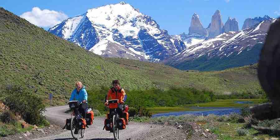 Cicloturismo, Cicloturismo con alforjas. Cicloturismo bicicletas