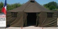 Tiendas de campaña militares. Tienda de campaña militar grande. Tienda de campaña militar grande