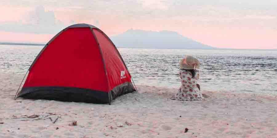 Tienda campaña playa